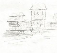 Port by kajtek21.deviantart.com on @DeviantArt Drawing Sketches, Drawings, Pencil, Landscape, Outdoor, Outdoors, Scenery, Sketches, Outdoor Games