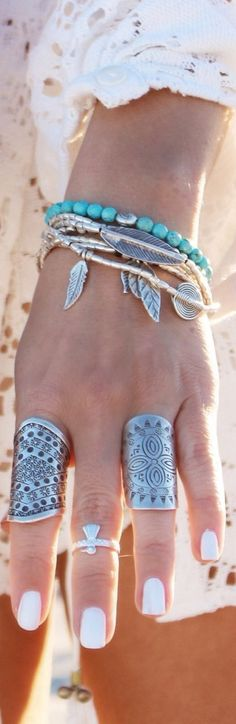 Boho jewelry style #weloveboho#boho#bohemian#gypsy#freespirit#fashion#moda