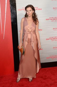 Anna Friel wearing the Temperley London Long Greta V Neck Dress from the Spring Summer 2012 collection to the premiere of The Amazing Spider-Man in LA last night, June 2012.
