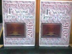 Circulo Cooperativo de Escritores: Presentamos el Trofeo de letras y poetas 2016