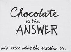 Kiz Canvas - Chocolate is the .... | Nieuw Tekstborden Canvas | Label 123