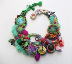 Enigma...Art To Wear..Fairy Necklace..Handmade by AccessoriesLilit