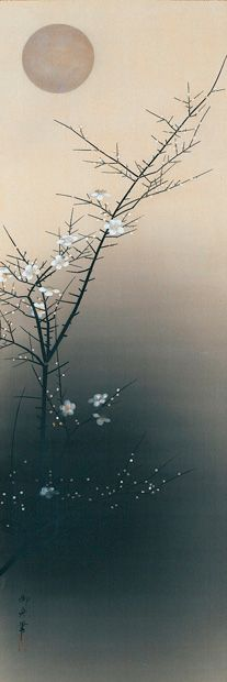 「夜梅」Plum at Evening, 1930 – 速水御舟 Hayami Gyoshū _____________________________ Reposted by Dr. Veronica Lee, DNP (Depew/Buffalo, NY, US)