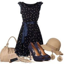 """navy and tan"" by meganpearl on Polyvore"