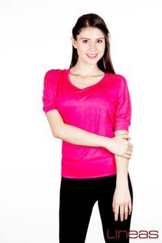 Playera. Modelo 17134. Precio $100 MXN #Lineas #outfit #moda #tendencia #2014 #ropa #prendas #estilo #outfit #primavera #playera