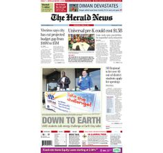 The front page of The Herald News for Wednesday, April 23, 2014. #fallriver