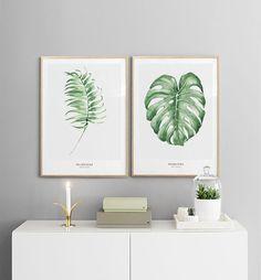 Inspiratie fotowand, botanica | Collage met botanische posters en prints