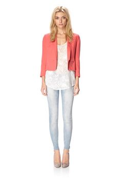 summer look. light jeans  Aloha Silk Jacket