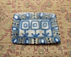 Mid Century Danish Art Ceramic Brooch Pin - Karin Og Aase, Danmark #KarinOgAase There are several pins like this as well as the ceramic tile art Lion in the vestibule by this artist (identical brooch in the house)