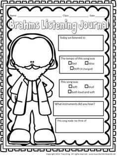 Composer of the Month Johannes Brahms -Bulletin Board and