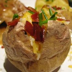 """Excellent way to make """"restaurant"""" baked potatoes. Perfect Baked Potato - Allrecipes.com"""