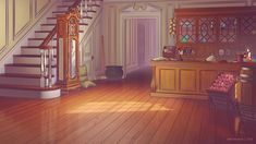 Late-Georgian store / home that belongs to a sorceress. Piece is for an upcoming visual novel by Carrogath: carrogath. Sorceress Store / Home Cute Wallpaper For Phone, Anime Scenery Wallpaper, Pastel Wallpaper, Fantasy Town, Fantasy Castle, Scenery Background, Office Background, Foto Gift, Episode Interactive Backgrounds