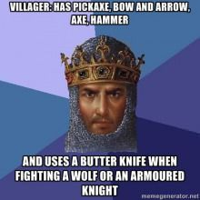 Age of Empires logic vs. fight style.