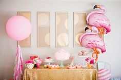 Flamingo themed First b-day party for Lucy!?!? @ninaschilling You have to look at this blog.
