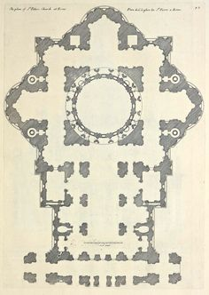 Plan of St Peters', Rome