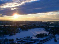 The sunset from kaknastornet, Stockholm - Sweden