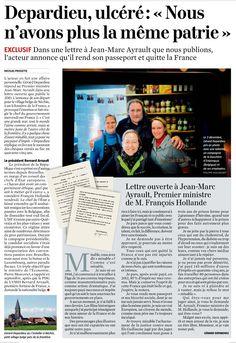 La lettre de G. Depardieu à J-M. Ayrault