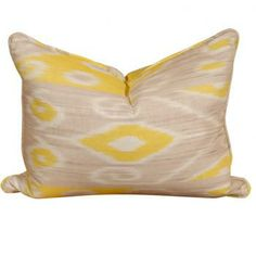 in love with this pop of yellow ikat print
