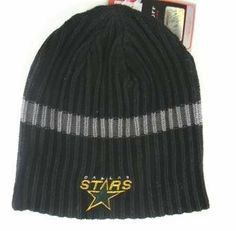 Dallas Stars Ribbed Beanie Hat by Reebok. $14.99. One Size Fits Most. Embroidered Applique on Front. Officially Licensed
