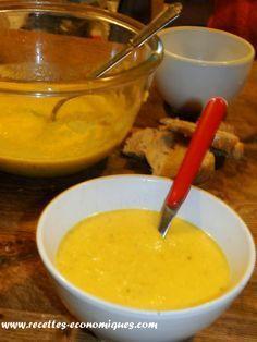 Une recette de soupe ou velouté de légumes avec le thermomix