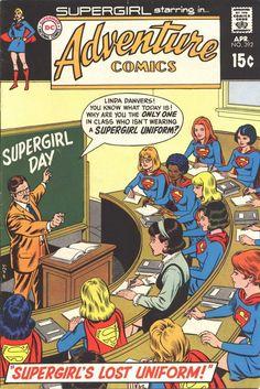 Adventure Comics April cover by Curt Swan and Murphy Anderson Superboy April cover by Curt Swan and Ray Burnley Supergirl Superman, Superman Comic, Old Comics, Vintage Comics, Comic Book Artists, Comic Books Art, Comic Art, Superman Characters, Action Comics 1