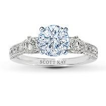 Jared Scott Kay White Gold Carat t. Breathtaking diamonds fill the bands and sides of this romantic engagement ring setting for her. Three eighth carat total weight. Styled in white gold with milgrain edging. Jared Engagement Rings, Engagement Ring Settings, Engagement Wishes, Engagement Ideas, Solitaire Engagement, Pretty Rings, Beautiful Rings, Bling Bling, Diamond Ring Settings