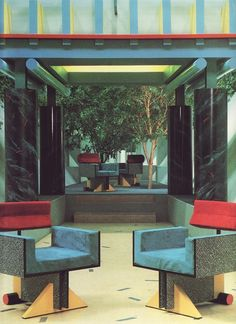 Interior design | decoration | postmodern interior, 1980's: memphis