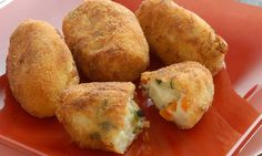 Receta de Croquetas de verduras y queso Veggie Recipes, Baby Food Recipes, Mexican Food Recipes, Vegetarian Recipes, Cooking Recipes, Healthy Recipes, Tapas, My Favorite Food, Favorite Recipes