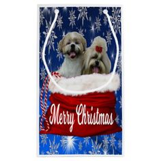 Shih tzu Gift Bag Christmas - dog puppy dogs doggy pup hound love pet best friend