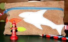 Etui aus Lederjacke / Zippered pouch made from leather jacket / Upcycling