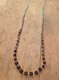 multi turquoise & chocolate Chan Luu necklace