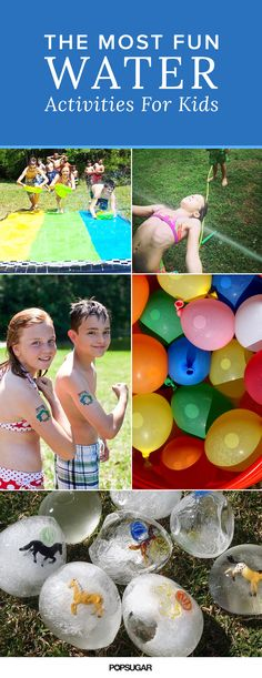 These games are ideal for kids' birthday parties #Fun #Water
