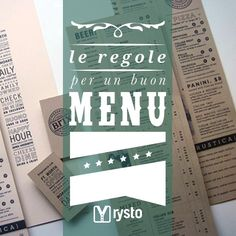 Guardare e sfogliare il menu è una delle prime cose che un cliente fa una volta sedutosi al tavolo di un ristorante... www.rysto.com/blog/2014/01/31/come-rendere-il-vostro-menu-un-efficace-strumento-di-vendita/