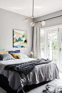 bedroom grey Belynda Henry art Daylesford cottage oct15