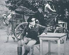 """Im Hintergrund die """"Zigeunerin"""" Lyduschka, eine Szene aus dem Film """"Der Student von Prag""""!"""