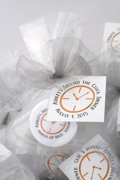 Around The Clock Showers Need Special Favors Well Personalize With Your Theme Colors