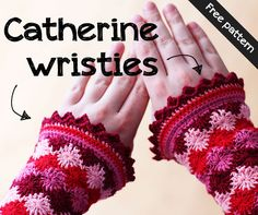 Free pattern for Catherine wristies #crochet