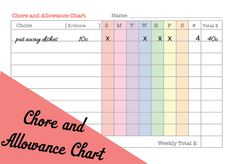 we wilsons: 5 Homeschool-y Printables (Chore and Allowance Chart)