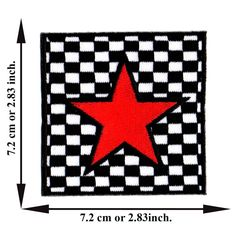 'Red Star Patch' Iron on Patch 2.83'x2.83' Appliques Hat Cap Polo Backpack Clothing Jacket Shirt DIY Embroidered Iron on / Sew on Patch ** Details can be found by clicking on the image.