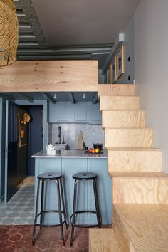 The Cult of the Micro-Apartment: 17 Tiny Spaces That Prove Smaller Is Better - The Organized Home Micro Apartment, Colorful Apartment, Tiny Apartments, Tiny Spaces, Apartment Kitchen, Studio Type Condo Ideas Small Spaces, Small Apartment Design, Apartment Layout, Studio Apartments