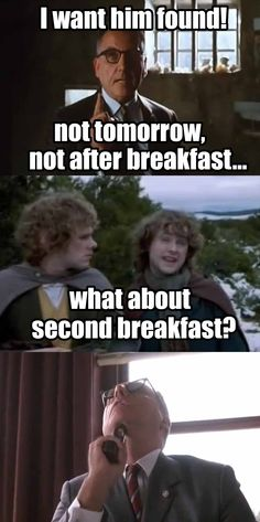 I dont think he knows about second breakfast - Imgur