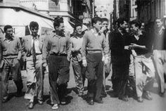 Lettrists in Cannes 1951 - with Debord, left. A series of documents by later SI members. Situationist International, Guy Debord, Ernest, Cannes, Jean Michel, Guys, Concert, Search, Life
