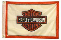 Harley Davidson Shield White 2'x 3' Flag