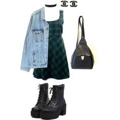 "90's fashion. ""Not so much on the boots and back pack though."" Um, that's kinda what makes it '90s fashion'."