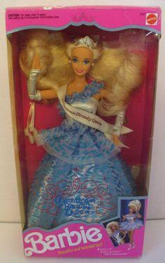 1991 MATTEL BARBIE AMERICAN BEAUTY QUEEN DOLL 3137 - NIB #Mattel #Doll