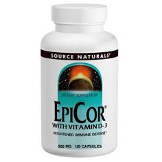 EpiCor w/Vitamin D3 500mg | Source Naturals