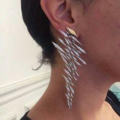 SABBA Diamond Ear Pendants ⚡️⚡️⚡️⚡️#FDGallery #SABBAjewels