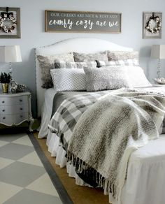 45 cool modern farmhouse bedroom decor ideas