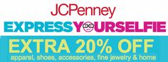 JCPenney $$ Express Yourselfie Sweeps: Enter to Win JCP.com Gift Card (+ Score 20% Off Purchase Coupon)!