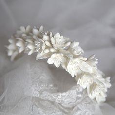 Custom jasmine  headpiece @lena_rom_